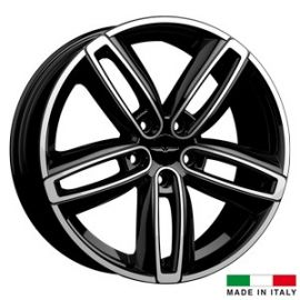4 jantes Italian Wheels DERVIO Black polished 18 pouces