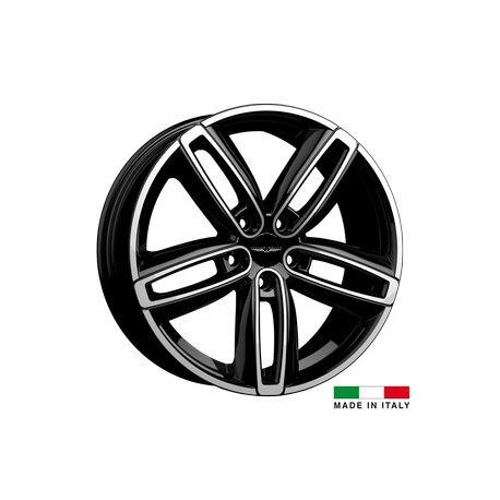 4 jantes Italian Wheels DERVIO Black polished 18 pouces