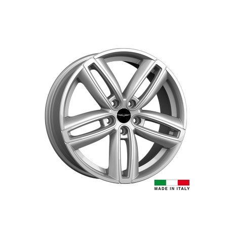 4 jantes Italian Wheels DERVIO Silver 17 pouces