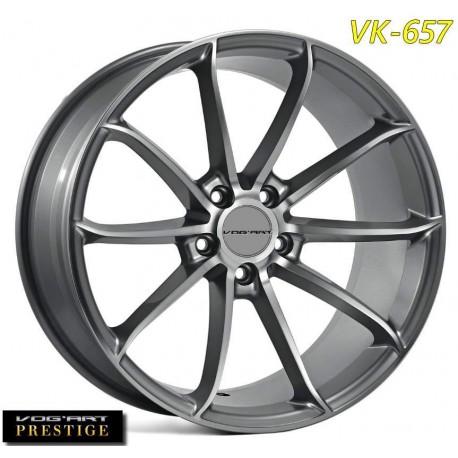 """4 Jantes Vog'art Prestige VK657 - 19"""" - Black"""