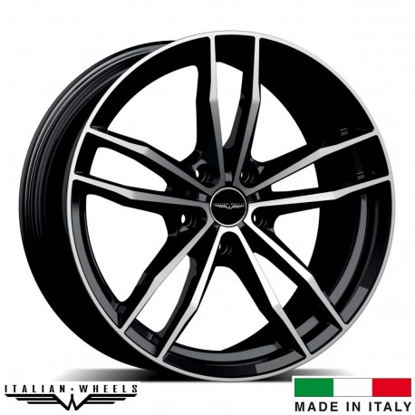 "4 Jantes SOLTO - Italian wheels - 17"" - Noir poli"