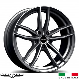"4 Jantes SOLTO - Italian wheels - 17"" - Anthracite"