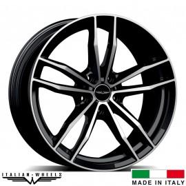 "4 Jantes SOLTO - Italian wheels - 19"" - Noir poli"