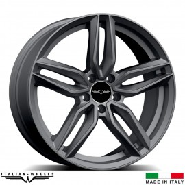 "4 Jantes FIRENZE - Italian wheels - 17"" - Anthracite"