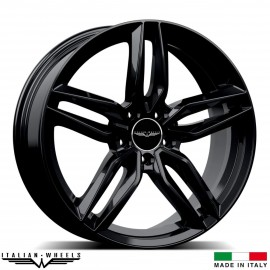 "4 Jantes FIRENZE - Italian wheels - 17"" - Noir"