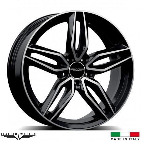 """4 Jantes FIRENZE - Italian wheels - 18"""" - Noir poli"""