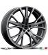 "4 Jantes GALLIANA - Italian wheels - 19"" - Anthracite poli"